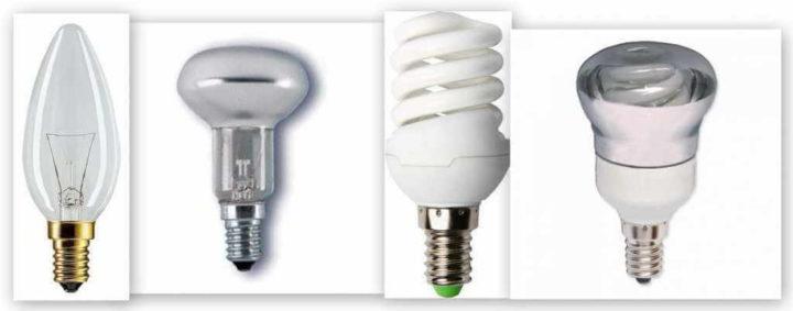 Большой выбор лампочек