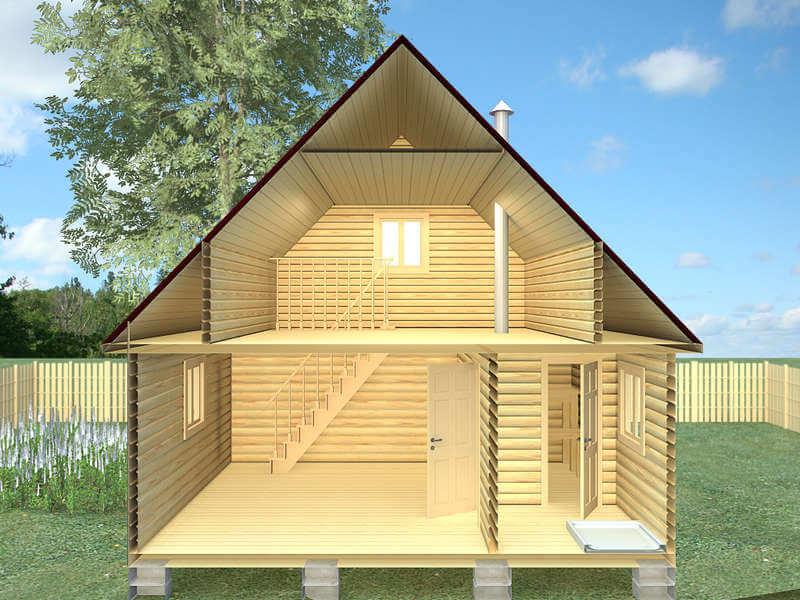 Проект бани и гостевого дома