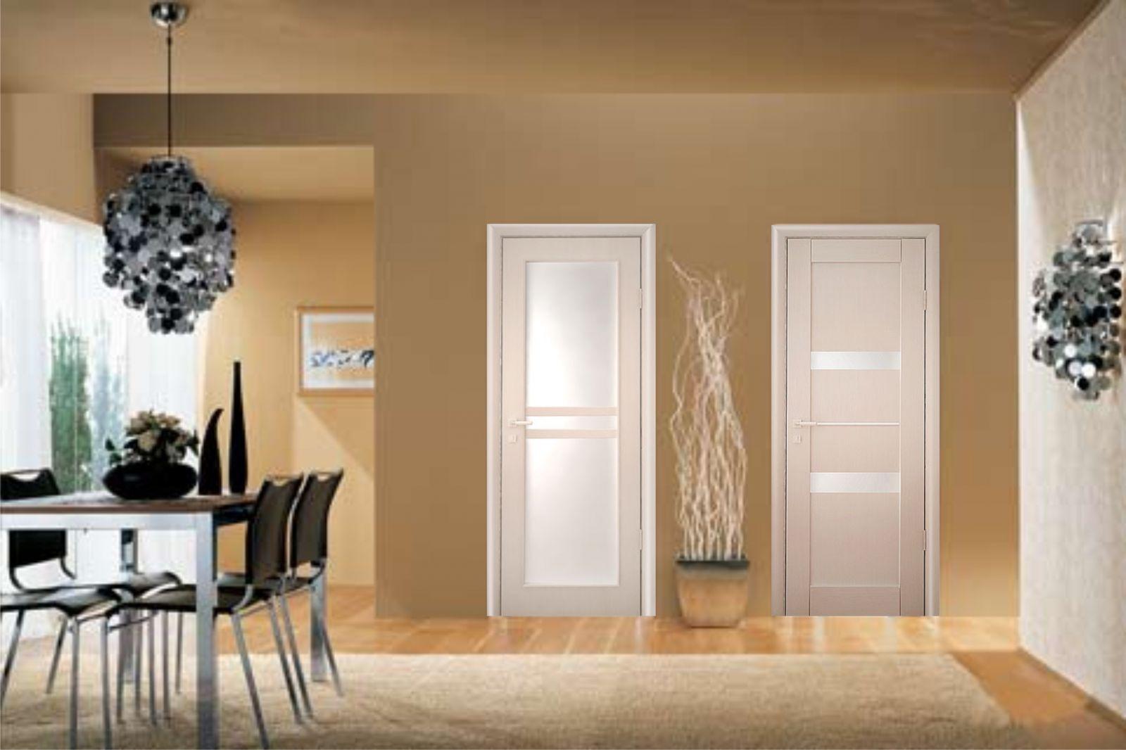 Отделка дверного полотна шпоном